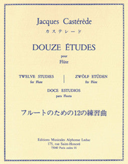 Casterede, J. - Twelve Studies - FLUTISTRY BOSTON