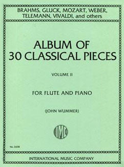 Album of 30 Classical Pieces: Vol. II - FLUTISTRY BOSTON