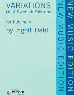 Dahl, I. - Variations on a Swedish Folk Tune - FLUTISTRY BOSTON