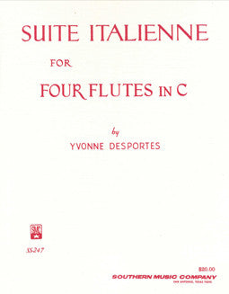 Desportes, Y. - Suite Italienne - FLUTISTRY BOSTON