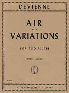 Devienne, F. - Air with Variations - FLUTISTRY BOSTON