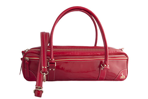 Fluterscooter - Red Patent Leather Bag