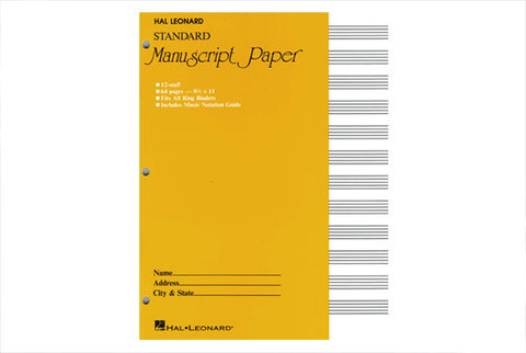 Manuscript Paper - 8.5 x 11 - FLUTISTRY BOSTON