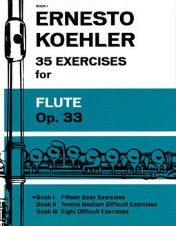 Koehler, E. - 35 Exercises, Op. 33 - Book 1 - FLUTISTRY BOSTON