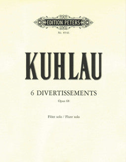 Kuhlau, F. - 6 Divertissements - FLUTISTRY BOSTON