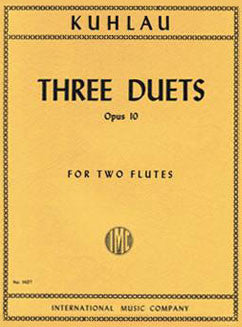 Kuhlau, F. - Three Duets, Op. 10 - FLUTISTRY BOSTON