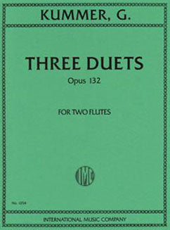 Kummer, G. - Three Duets, Op. 132 - FLUTISTRY BOSTON