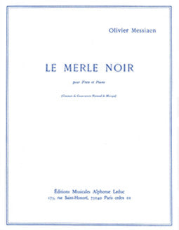Messiaen, O. - Le Merle Noir - FLUTISTRY BOSTON