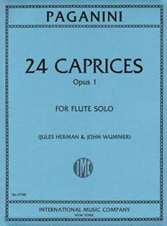Paganini, N. - 24 Caprices Op. 1 - FLUTISTRY BOSTON