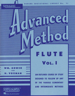 Rubank - Advanced Method for flute: Vol 1 - FLUTISTRY BOSTON