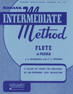 Rubank - Intermediate Method for flute or piccolo - FLUTISTRY BOSTON
