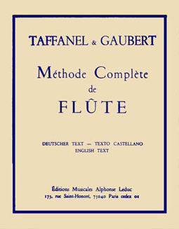 Taffanel & Gaubert - The Complete Flute Method - FLUTISTRY BOSTON