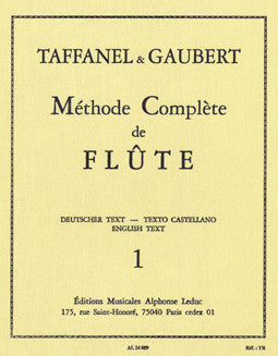 Taffanel & Gaubert - The Complete Flute Method - Vol 1 - FLUTISTRY BOSTON