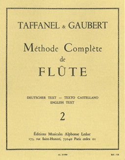 Taffanel & Gaubert - The Complete Flute Method - Vol 2 - FLUTISTRY BOSTON