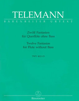 Telemann, G.P. - Twelve Fantasias for Flute without Bass - FLUTISTRY BOSTON