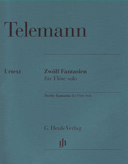 Telemann, G.P. - Twelve Fantasias - FLUTISTRY BOSTON