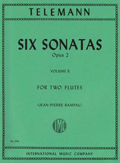 Telemann, G.P. - Six Sonatas, Op. 2: Vol. II - FLUTISTRY BOSTON