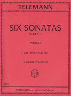 Telemann, G.P. - Six Sonatas, Series II: Vol. I - FLUTISTRY BOSTON