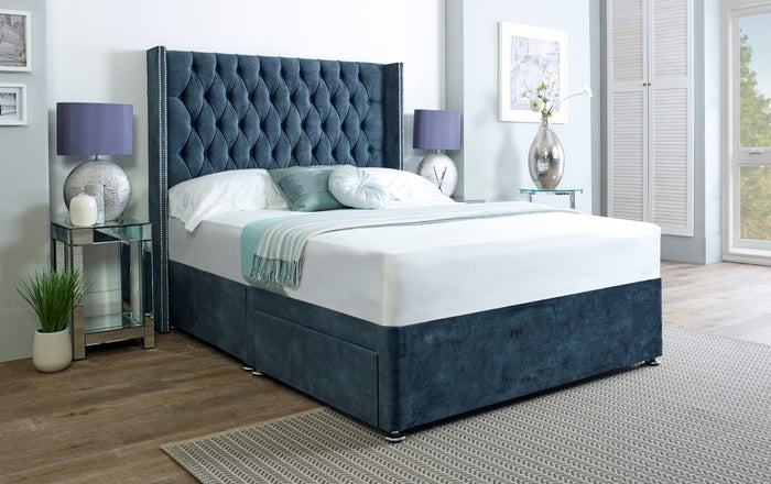 Ascot Wingback Chesterfield Divan Bed Set