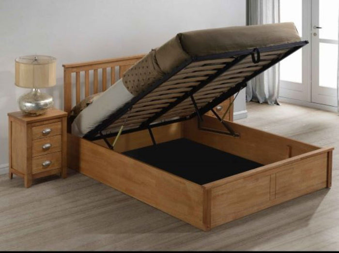 Wooden Beds - Eaton Wooden Ottoman Storage Bed