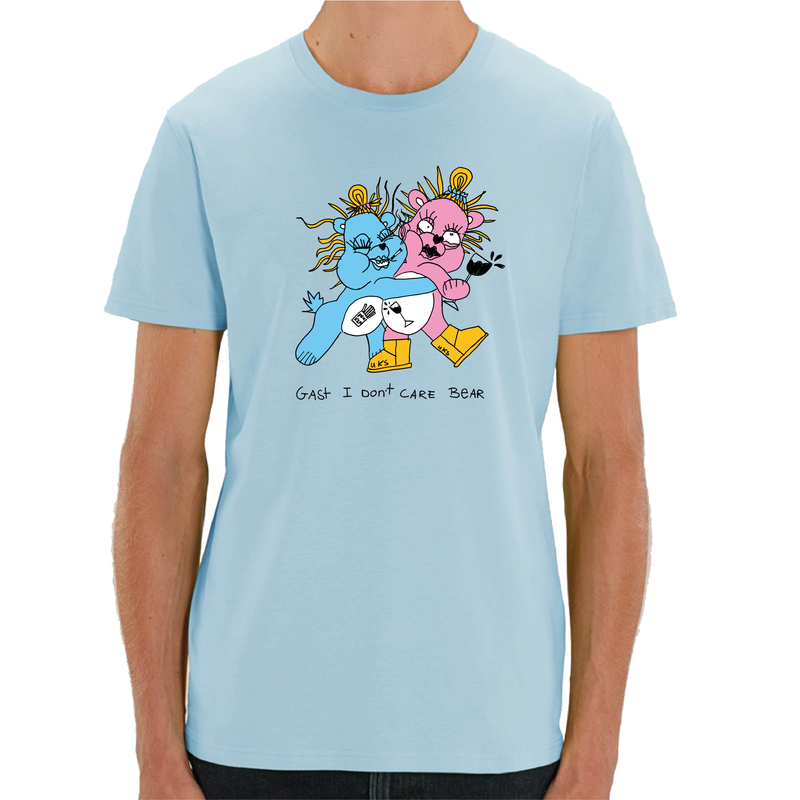 I dont Care Bear T-shirt Blauw