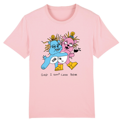 I dont Care Bear T-shirt Roze