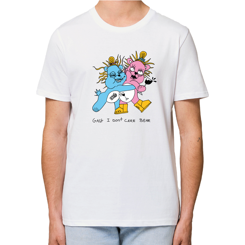 I dont Care Bear T-shirt Off white