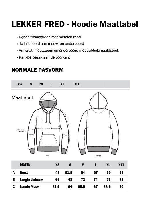 Dure Merk Hooded Sweatshirt Zwart