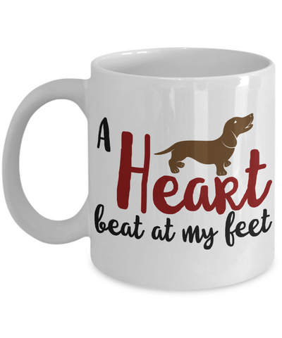 A Heart beat at my feet Coffee Mug - Doxie Got Moxie