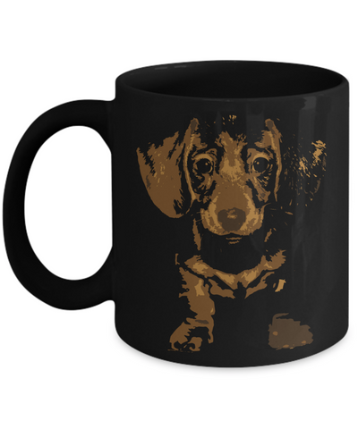 Cute Dachshund Pop Art Coffee Mug - Doxie Got Moxie