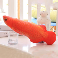 Load image into Gallery viewer, 1PC 3D Fish Creative Pet Cat Kitten Chewing Cat Toys Doll Catnip Stuffed Fish Interactive Kitten Playing Toy Stuffed Pillow