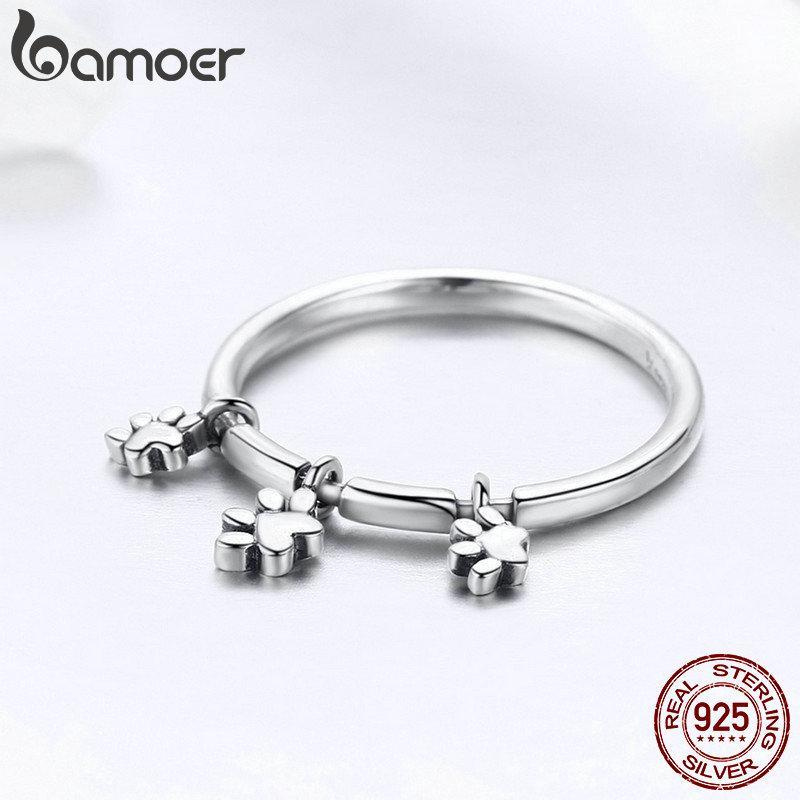 925 Sterling Silver Paw Ring