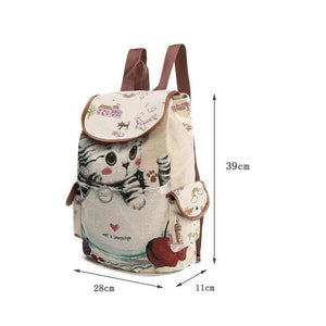 Bags & Luggages - Lovely Cat Drawstring Backpack