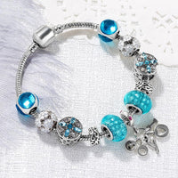 "Load image into Gallery viewer, Bracelet Jewellery - ""TURQUOISE"" CHARM BRACELET"