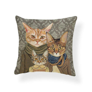 CAT DECOR PILLOW COVERS
