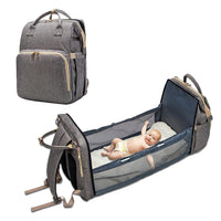 Load image into Gallery viewer, Convertible Bed Diaper Bag