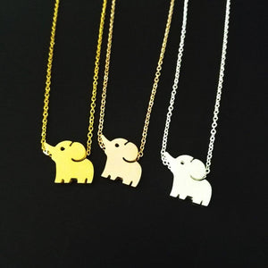 Cute Baby Elephant Necklace