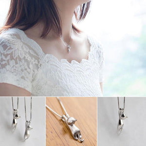 Cute Cat Hanging Necklace