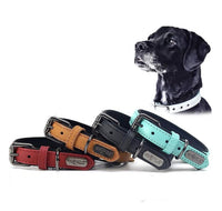Load image into Gallery viewer, Genuine Leather Dog Collar Padded Adjustable