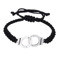 Load image into Gallery viewer, Handcuffs Bracelet - Silver Plated