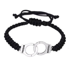 Handcuffs Bracelet - Silver Plated