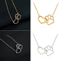 Load image into Gallery viewer, Hollow Pet Paw Footprint Necklaces