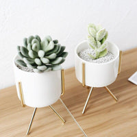 Load image into Gallery viewer, Home Goods - 1Set Nordic Style Ceramic Iron Art Vase Minimalism Flower Vases Home Decoration Green Plant Flowerpot Coffeehouse OfficeRoom