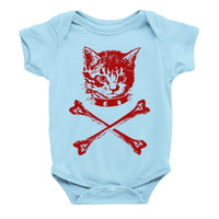 Load image into Gallery viewer, Kitten Crossbones Onesie
