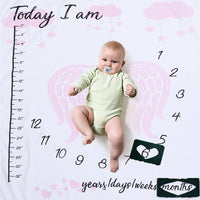 Load image into Gallery viewer, Monthly Baby Photo Prop Blankets
