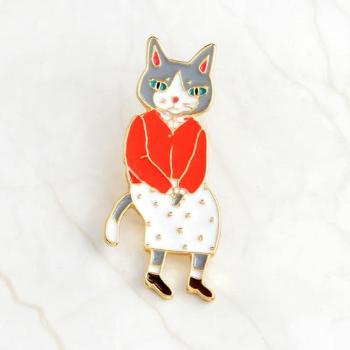 Mrs Cat Pin