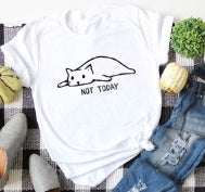 Not Today Lazy Cat T-Shirt