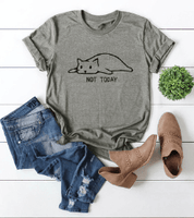Load image into Gallery viewer, Not Today Lazy Cat T-Shirt