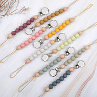 Load image into Gallery viewer, Pacifier Clips Chain Silicone Beads BPA Free DIY Dummy Clip Holder Soother Chains Baby Teething Toys Chew Gifts