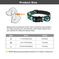 Load image into Gallery viewer, Personalized Dog Collar Nylon Custom Pet Dog Tag Collars Printed Plaid Puppy Nameplate ID Collars For Medium Large Dogs Engraved